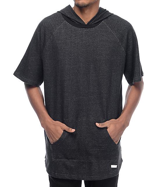 Melo Black Short Sleeve Hoodie