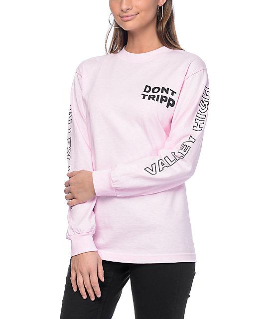 Valley High Don't Tripp Pink Long Sleeve T-Shirt