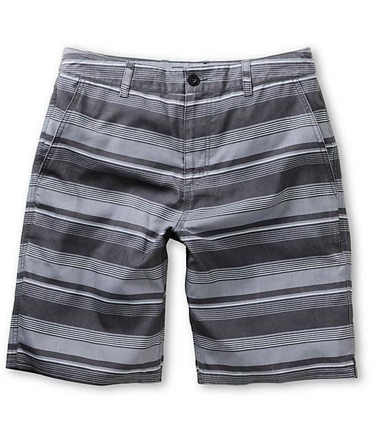 Valor Salvador Charcoal Stripe Hybrid Shorts