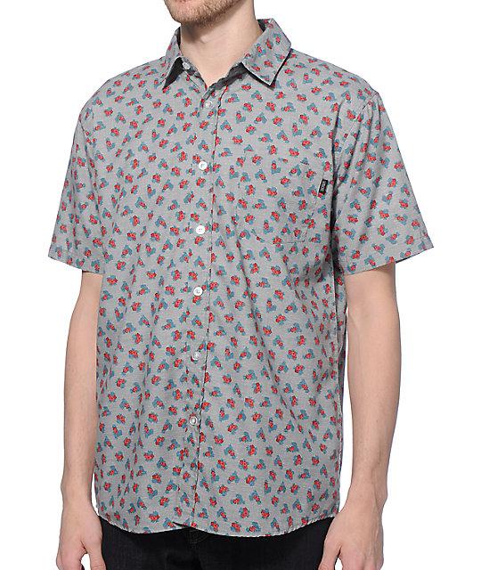 Valor Tucci Floral Button Up Shirt