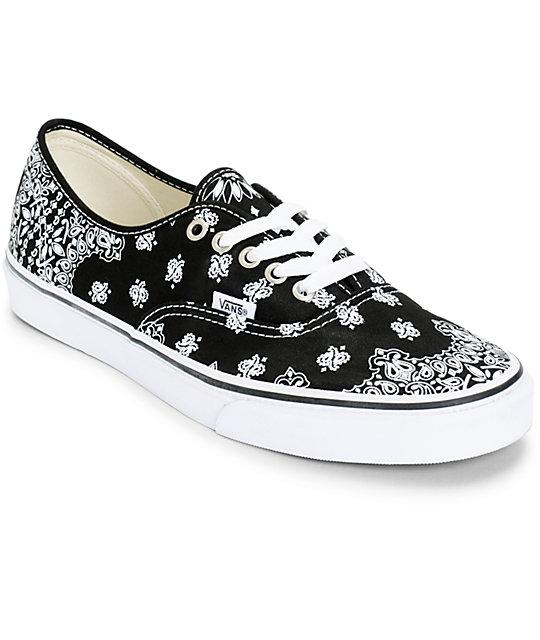 Van Authentic Bandana Skate Shoes (Mens)