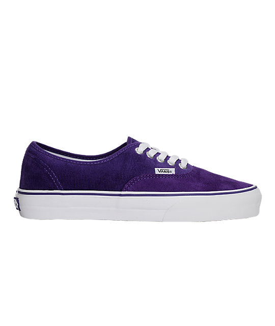 Vanc Authentic Purple Cord Skate Shoes (Mens)