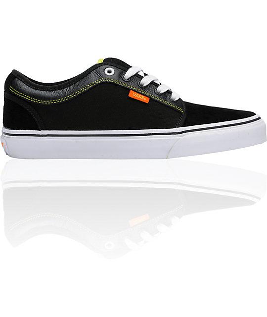 Vans & Celtek Chukka Low Black, Orange, & Green Skate Shoes