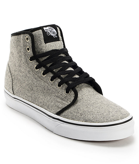 Vans 106 Hi Wool Grey Skate Shoes (Mens)