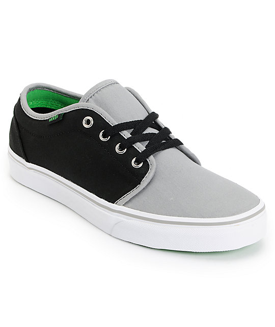 Vans 106 Vulc Dove Grey & Black Skate Shoes (Mens)