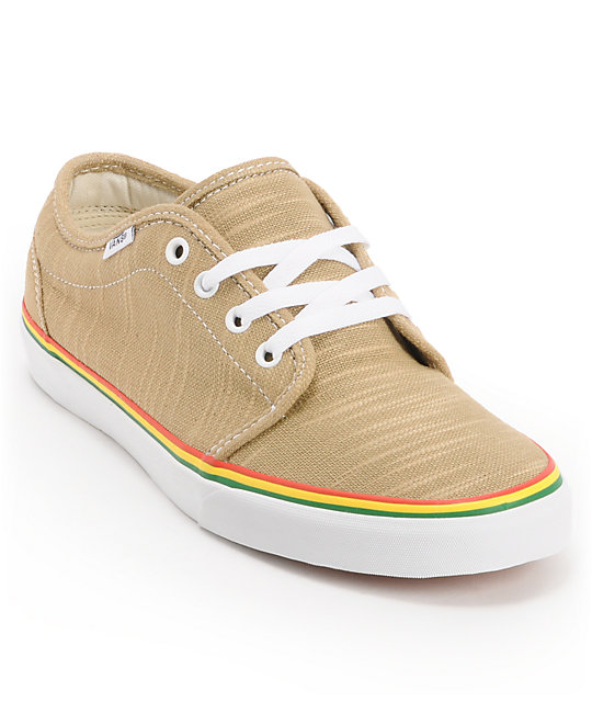 Vans 106 Vulc Natural & Rasta Hemp Skate Shoes (Mens)