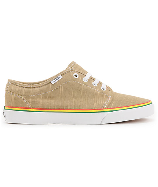 Vans 106 Vulc Natural & Rasta Hemp Skate Shoes