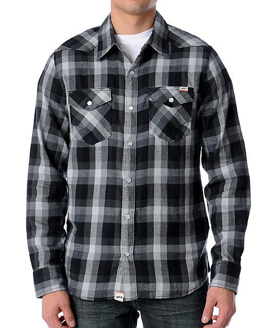 Vans AV Canyonero Charcoal Flannel Shirt