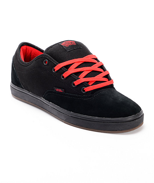 Vans AV Era 1.5 Black & Red Skate Shoes