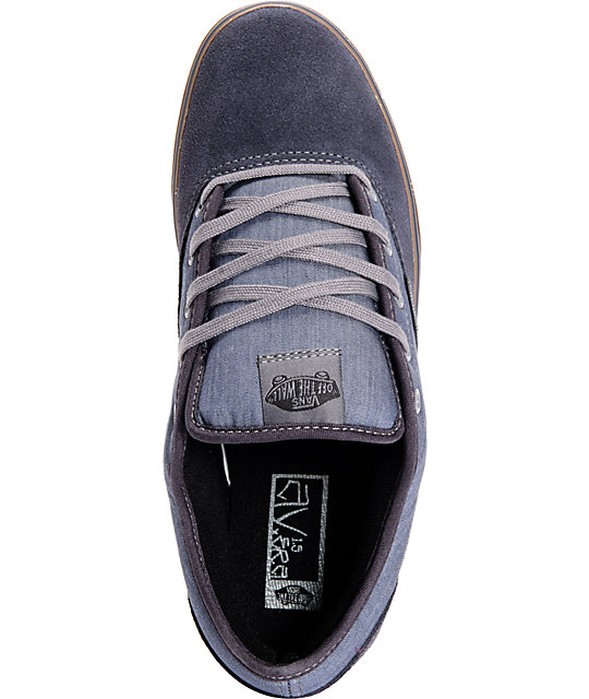 Vans AV Era 1.5 Chambray Navy & Gum Skate Shoes