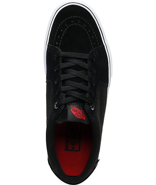 Vans AV Sk8 Low Black Suede & Canvas Skate Shoes