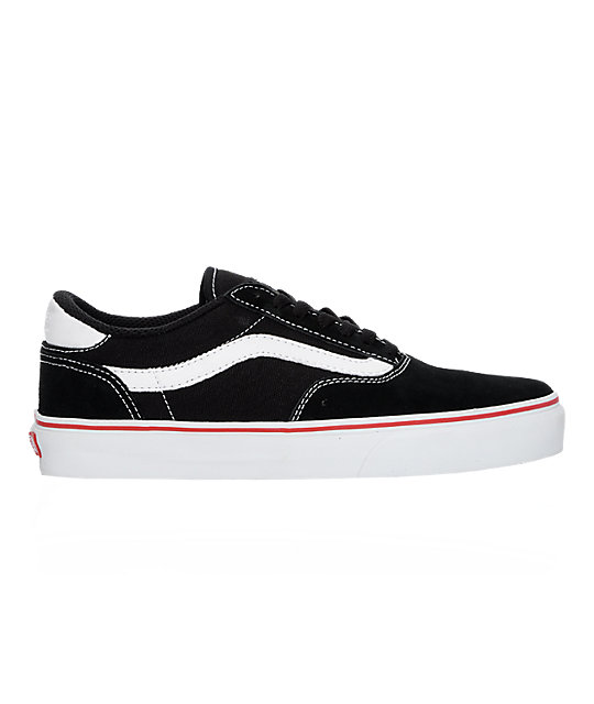 Vans AV6 Black, White & Red Skate Shoes