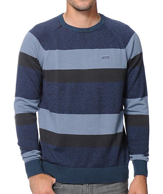 Vans Agnew Navy Stripe Crew Neck Sweater