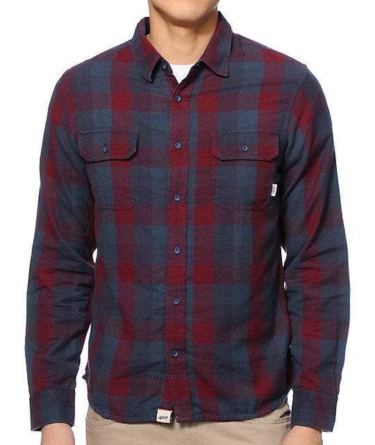 Vans Alameda Purple & Navy Long Sleeve Flannel Shirt