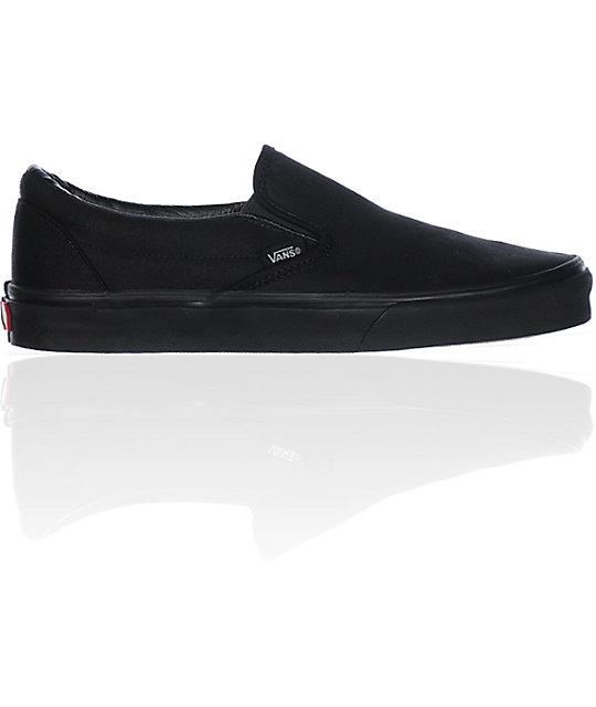 vans all black slip on shoe at zumiez pdp
