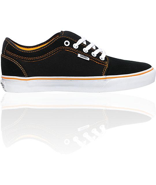Vans Andrew Allen Chukka Low Black & Orange Skate Shoes