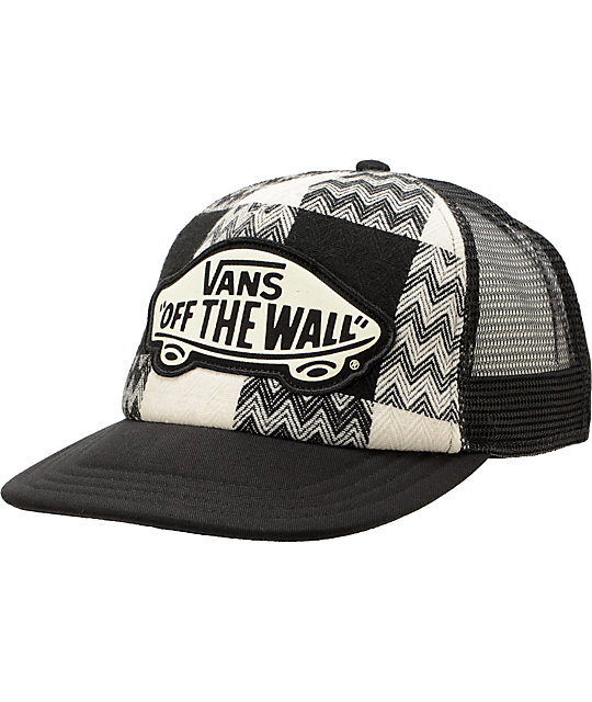 Vans Attendance Cream & Black Trucker Hat
