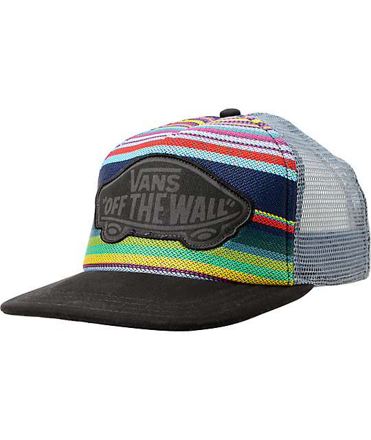 Vans Attendance Multicolor Stripe Trucker Hat