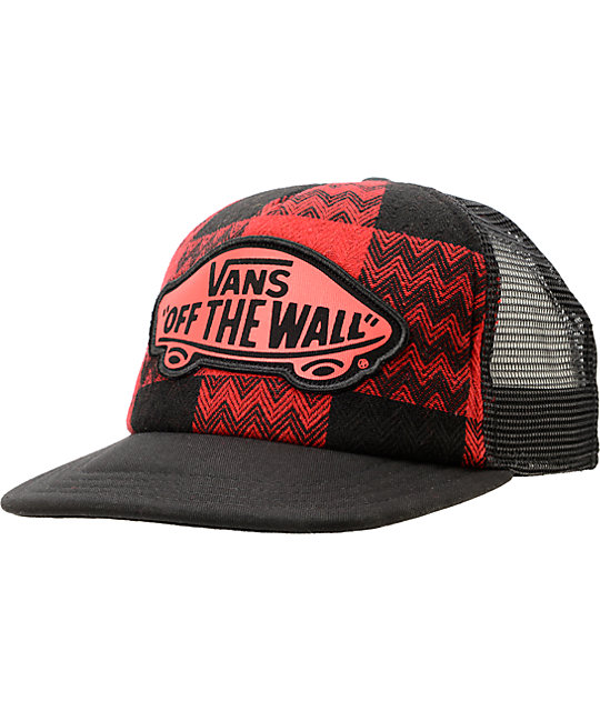 Vans Attendance Red Trucker Hat