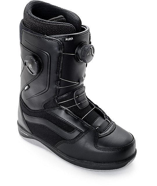 Vans Aura Dual Boa Black Snowboard Boots