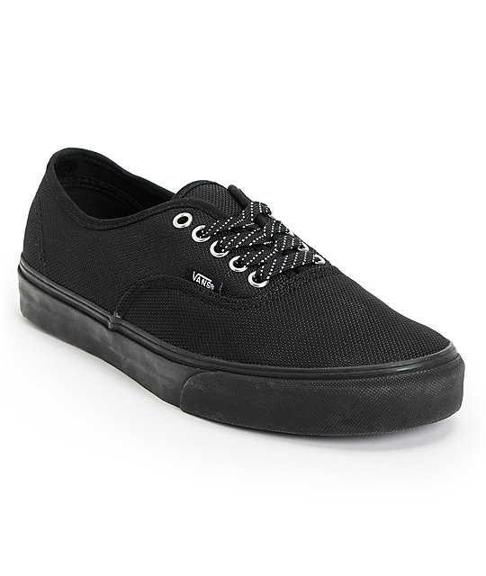 Vans Authentic Ballistic Black Skate Shoes (Mens)
