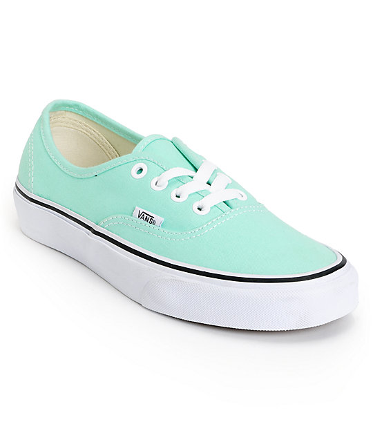Vans Authentic Beach Glass Mint Shoes (Womens)