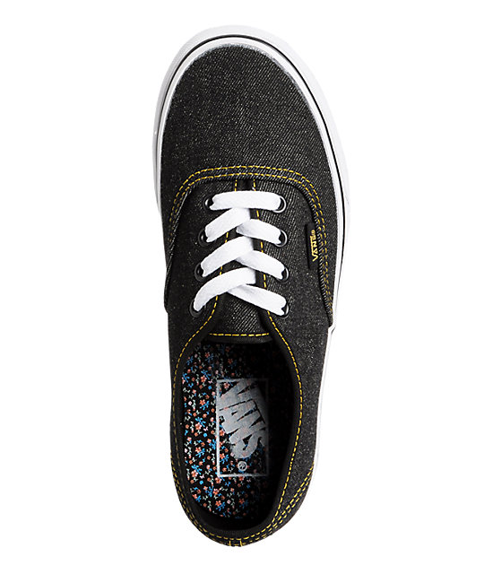 Vans Authentic Black Denim Shoes
