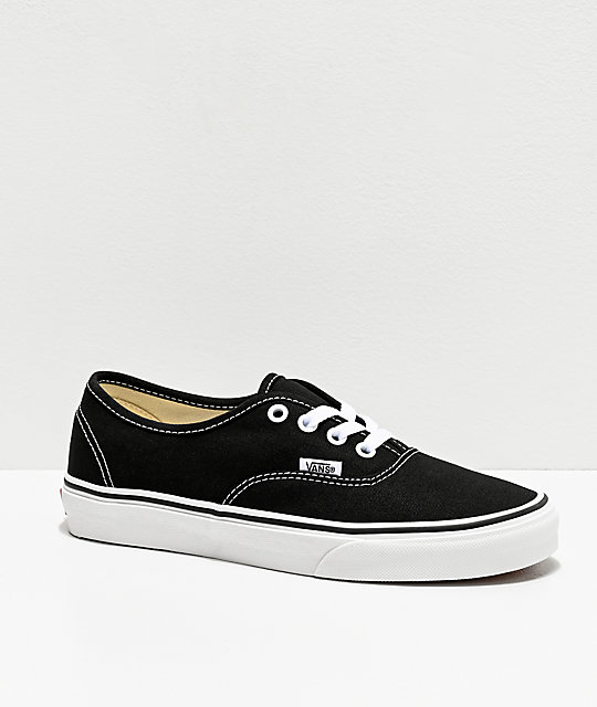 Vans Authentic Black and White Skate Shoes at Zumiez : PDP