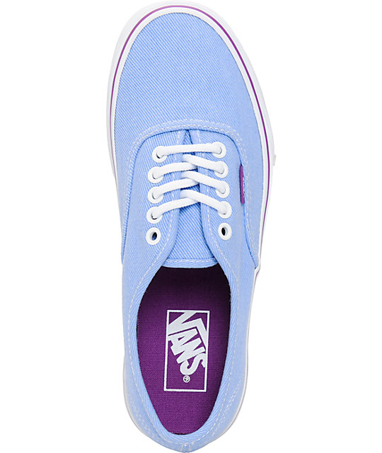 Vans Authentic Blue & Sparkling Grape Washed Twill Shoes
