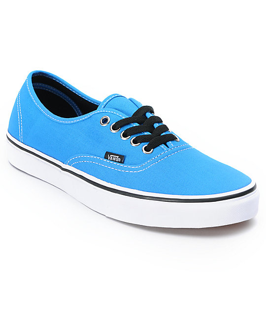 Vans Authentic Brilliant Blue & True White Skate Shoes (Mens)