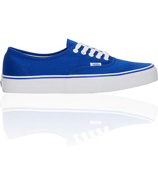 Vans Authentic Classic Blue Skate Shoes (Mens)