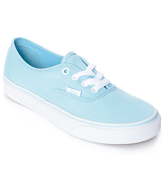 Vans Authentic Crystal Blue & White Skate Shoes