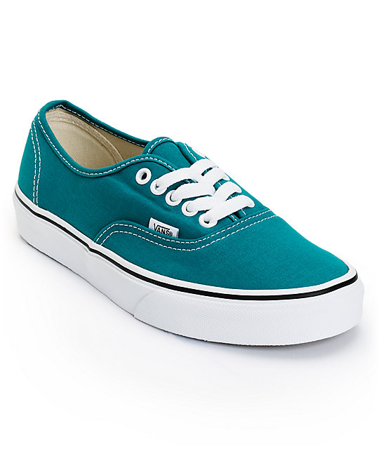 Vans Authentic Deep Lake Teal Shoes (Womens)
