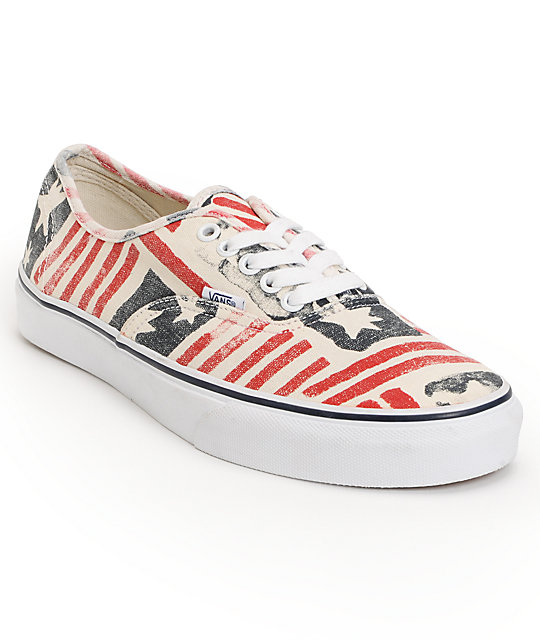 Vans Authentic Doren Retro Flag Skate Shoes (Mens)