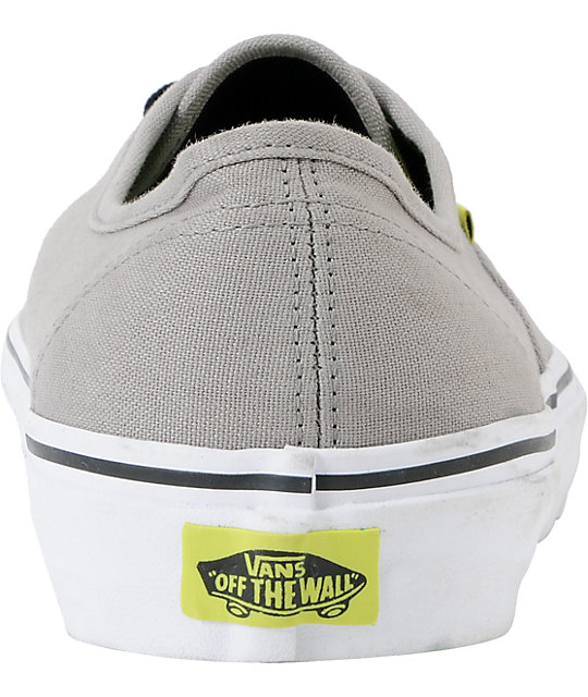 Vans Authentic Dove & Lime Skate Shoes