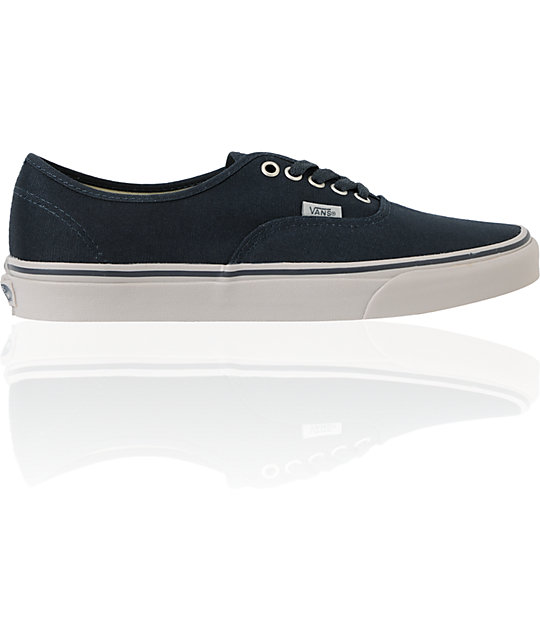 Vans Authentic Ebony & Ice Grey Skate Shoes (Mens)
