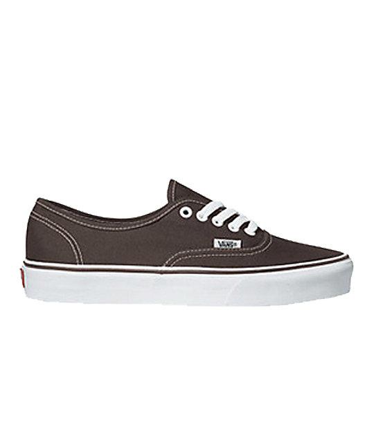 Vans Authentic Espresso Skate Shoes (Mens)