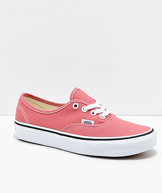 Vans Authentic Faded Rose & True White Skate Shoes