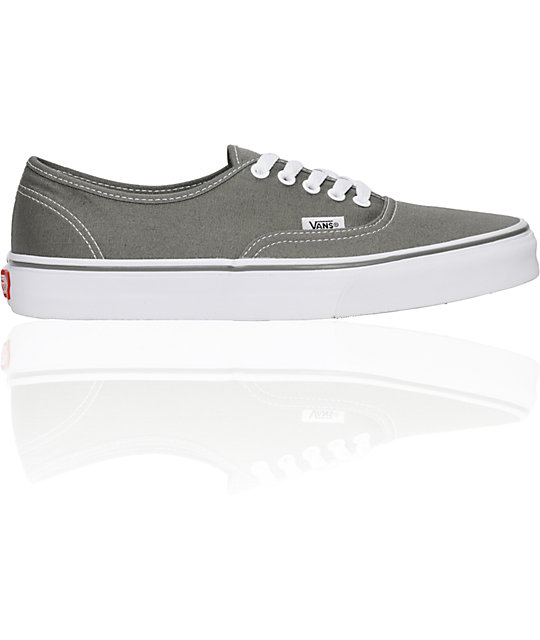 Vans Authentic Gargoyle Grey Skate Shoes (Mens)