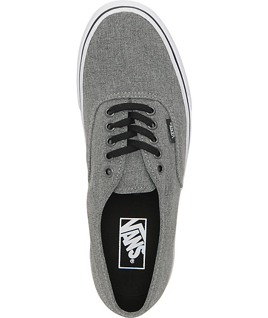 Vans Authentic Grey & White Skate Shoes