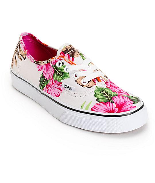 vans authentic hawaiian floral shoes zumiez. Black Bedroom Furniture Sets. Home Design Ideas
