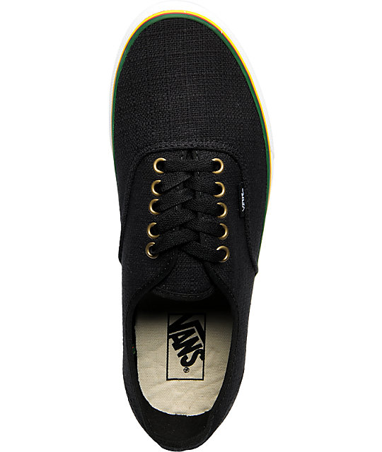 Vans Authentic Irie Hemp Rasta Black Skate Shoes