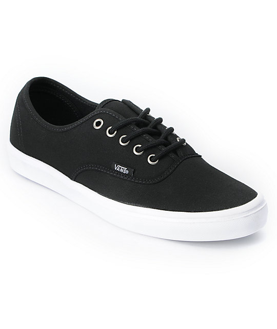 Vans Authentic Lite Black & White Skate Shoes (Mens)