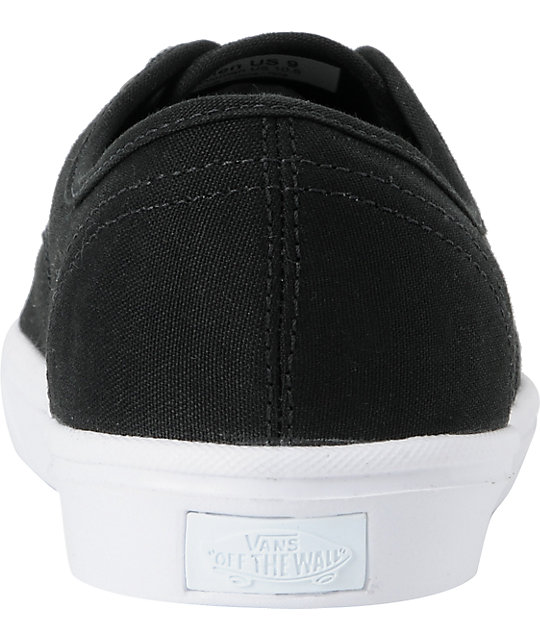 Vans Authentic Lite Black & White Skate Shoes
