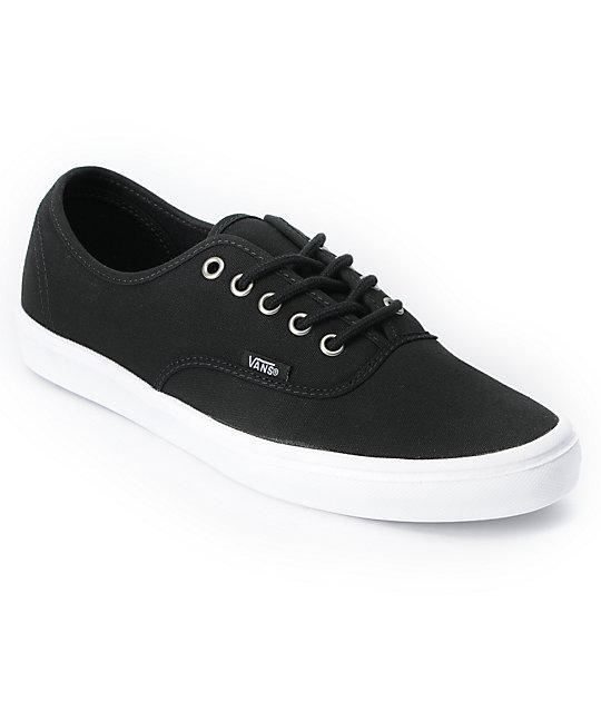 Vans Authentic Lite Black & White Skate Shoes at Zumiez : PDP