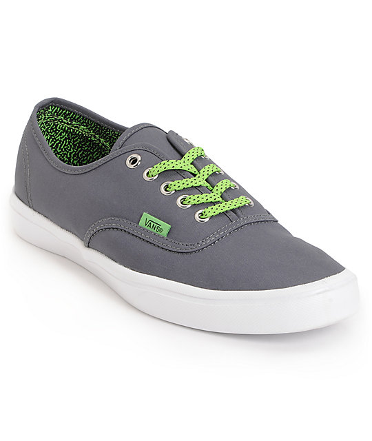 Vans Authentic Lite Shadow & Green Skate Shoes (Mens)