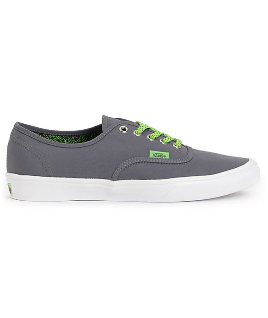 Vans Authentic Lite Shadow & Green Skate Shoes