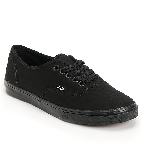 Vans Authentic Lo Pro All Black Shoes (Womens)