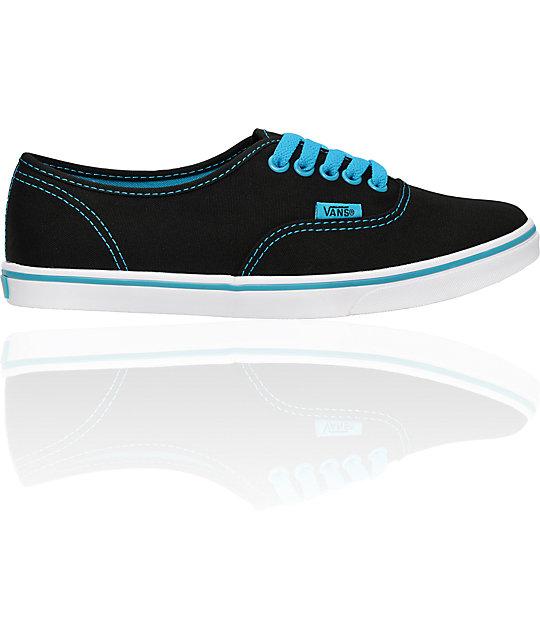 Vans Authentic Lo Pro Black & Sea Shoes