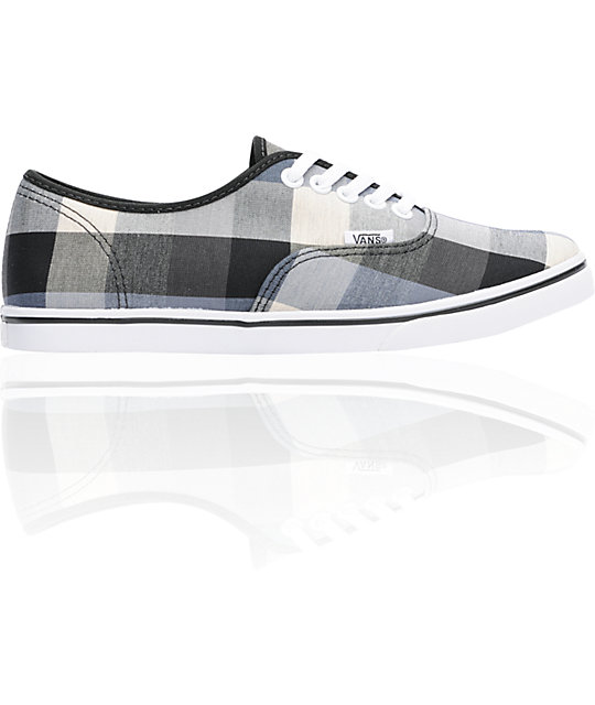 Vans Authentic Lo Pro Black Buffalo Plaid Shoes